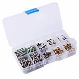 Комплект золотников для обслуживания автокондиционеров 134 штуки Spectr FR134, фото 2