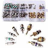 Комплект золотников для обслуживания автокондиционеров 134 штуки Spectr FR134, фото 7