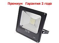 Светодиодный прожектор LED 30W Slim премиум SMD (черный), фото 1