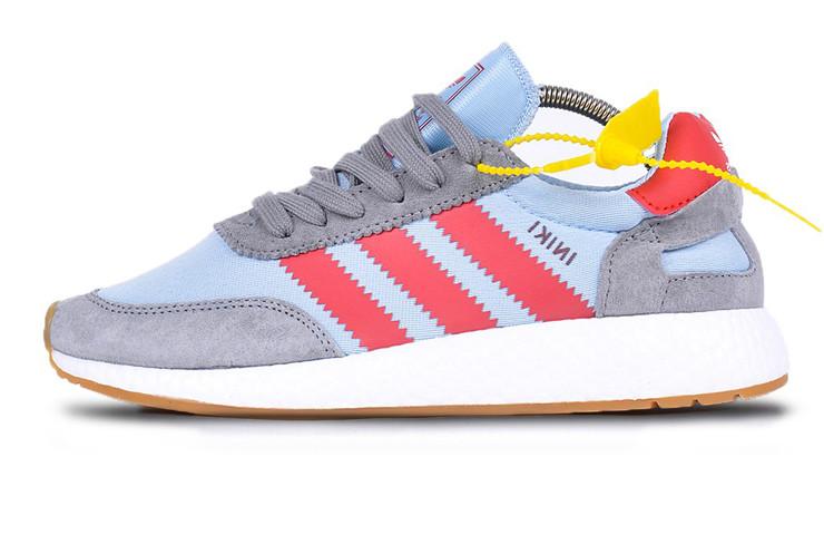 06f0064d Женские кроссовки Adidas Iniki Runner Red/Blue/White (Реплика ААА+): ...