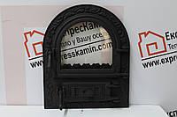 Дверцы печные со стеклом 460х560 «Артик» Чугунные дверцы для печи кухни барбекю