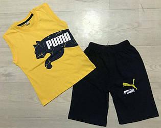 Летний комплект  Puma  на мальчика  110 см