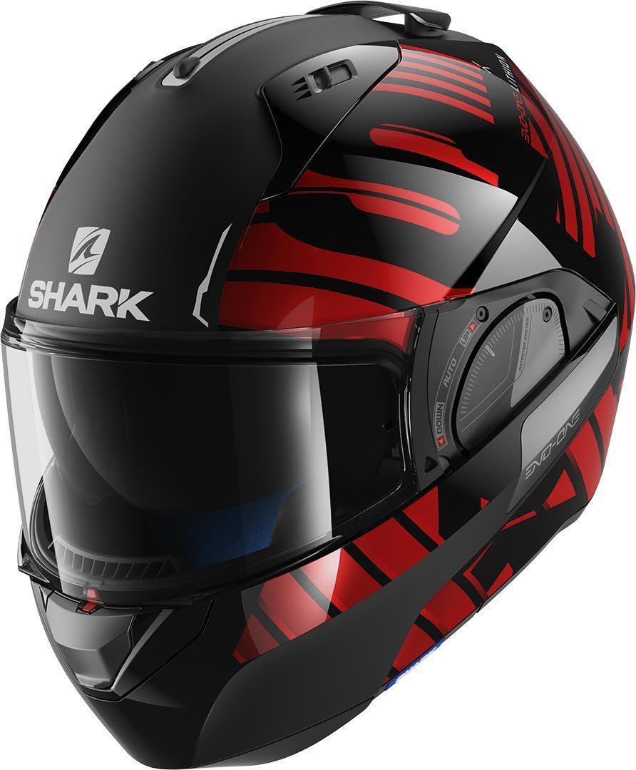 Шлем Shark Evo-one 2 Lithion Dual р.S черно-красный
