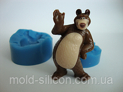 """3Д Силіконовий молд """"Ведмідь Маші малий"""""""