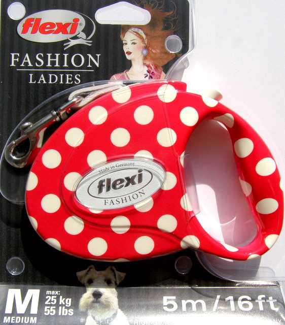 Поводок-рулетка flexi fashion ladies medium 5 метров до 25 кг
