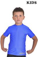 Футболка компрессионная BERSERK MARTIAL FIT KIDS blue