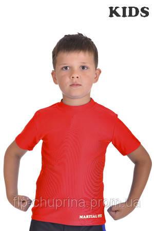 Футболка компрессионная BERSERK MARTIAL FIT KIDS red