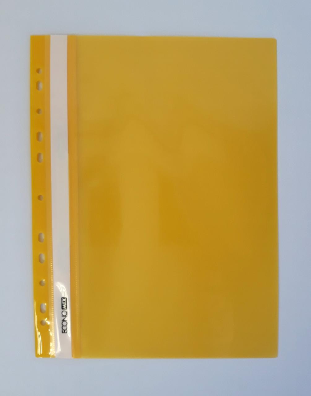 Папка Скоросшиватель пластиковый Обычные А4 Желтый Е31510-05 Economix Китай