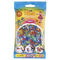 Термомозаика Набор цветных бусин 6 полупрозрачных цветов с блестками, Midi, 1000 шт., Hama, фото 1