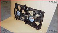 Дифузор радиатора, в сборе с вентиляторами, Chery M12 [HB], M11-1308010, Aftermarket