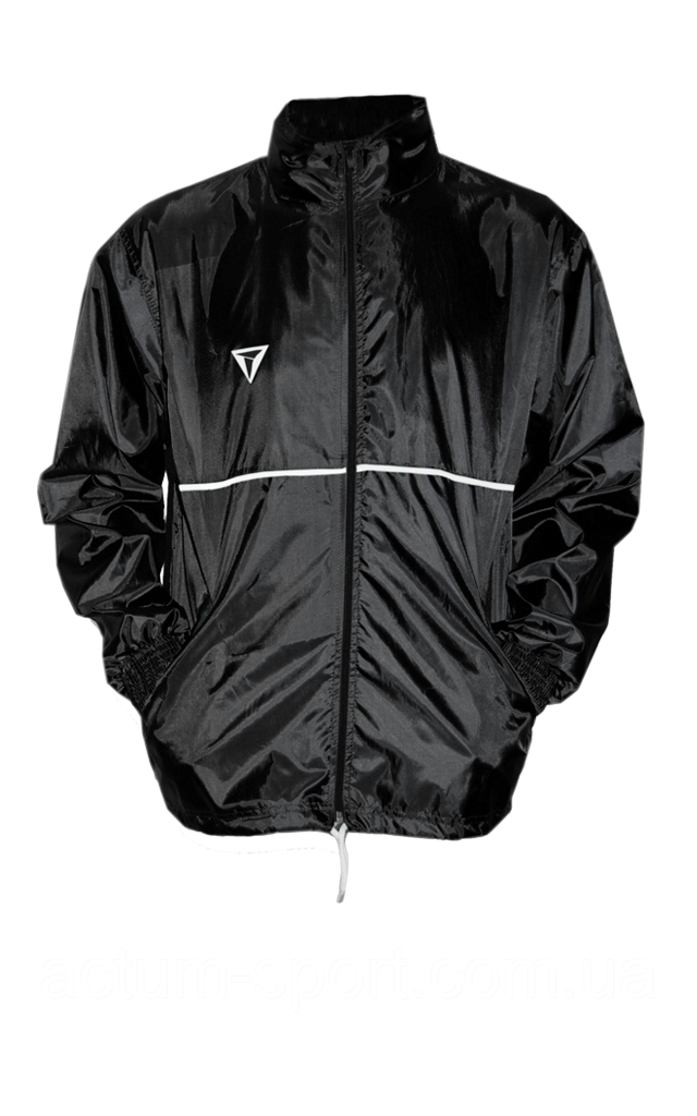Ветровка без подкладки с капюшоном Titar черная