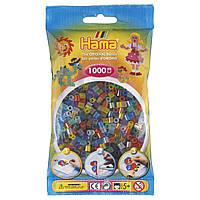 Термомозаика Набор цветных бусин 6 полупрозрачных цветов, Midi, 1000 шт., Hama, фото 1