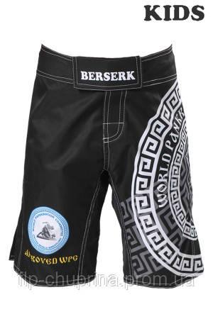 Шорты BERSERK PANKRATION approved WPC KIDS black
