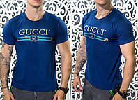 "Стильная мужская футболка Gucci ""Трикотаж"" 50, 52, 54 размер батал"