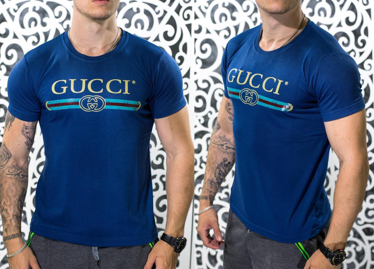 4de616351f9 Стильная мужская футболка в стиле Gucci