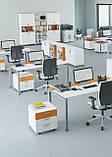 Стол рабочий двухцветный Trio 1200*600*740h, фото 4