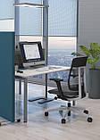 Стол рабочий двухцветный Trio 1200*600*740h, фото 5