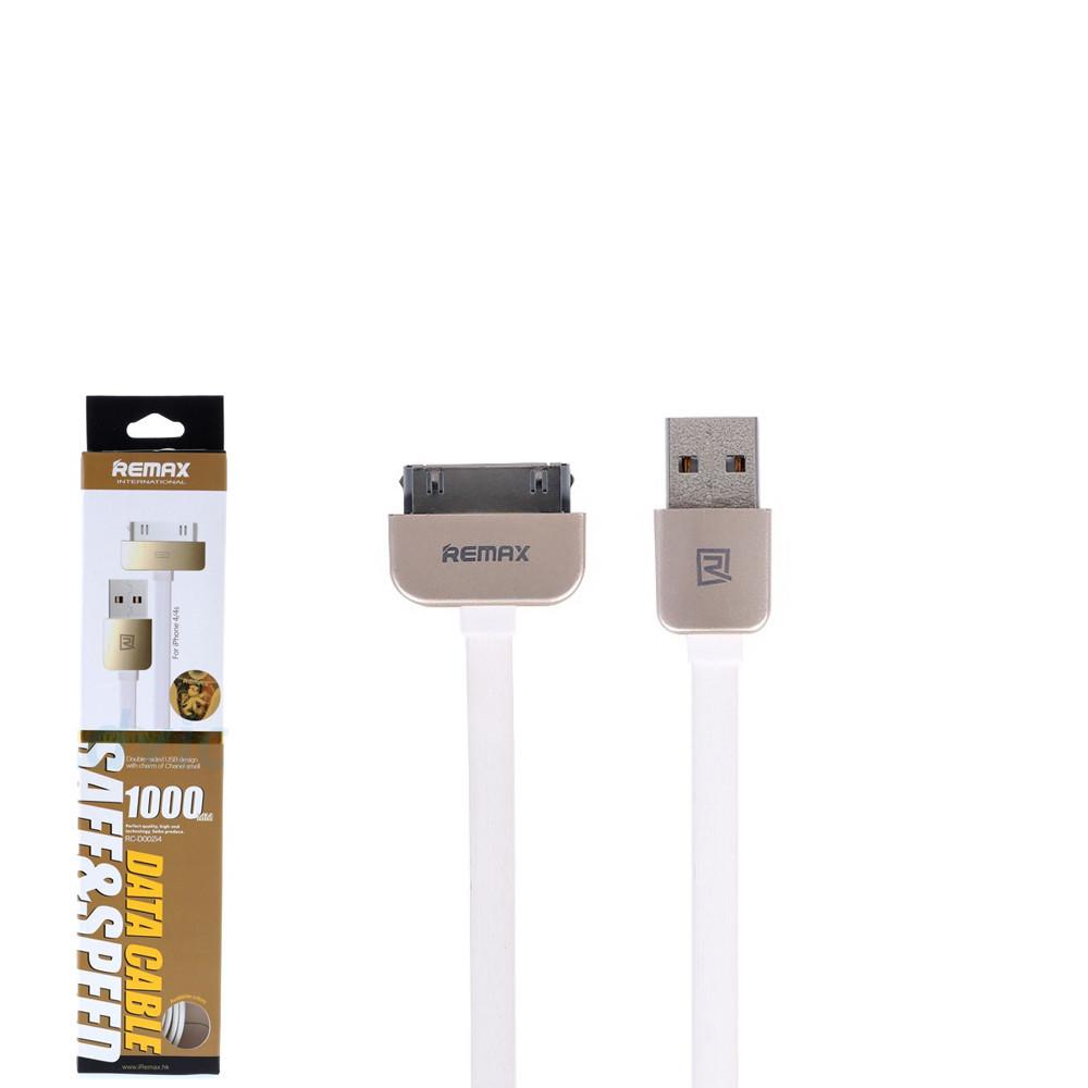 USB кабель Remax King Kong RC-015 iPhone 4 1m White