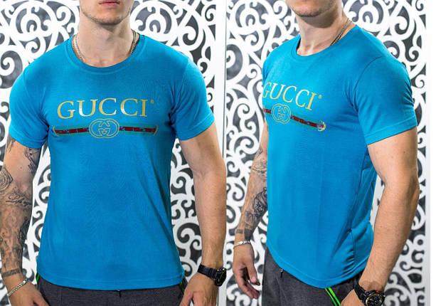 """Стильная мужская футболка в стиле Gucci """"Трикотаж"""" г 50, 52, 54 размер батал, фото 2"""
