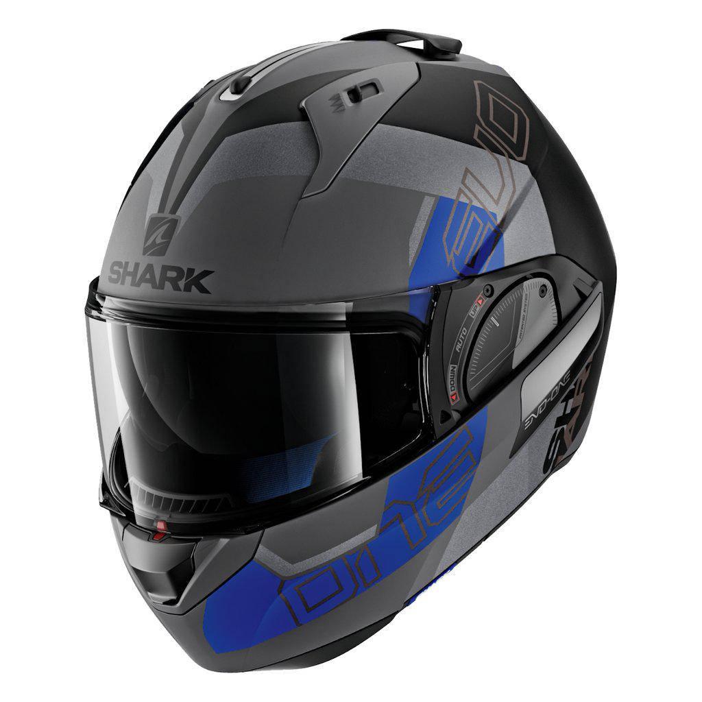 Шлем Shark Evo-one 2 Slasher Mat р.L черно-серый