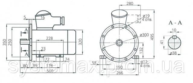 Взрывозащищенный электродвигатель АИУ 132М6 (ВАИУ 132М6)