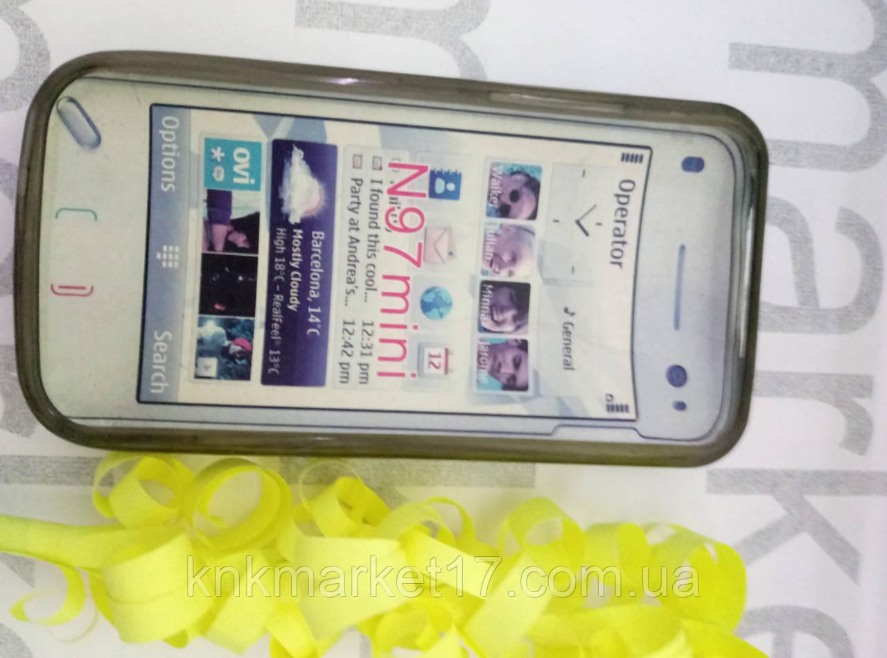 Чохол для Nokia N97 mini (силікон чорний принт)