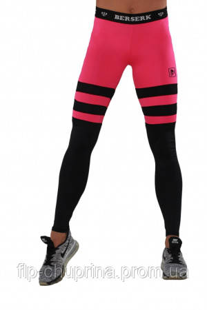 Лосины BERSERK INTENSITY black/pink