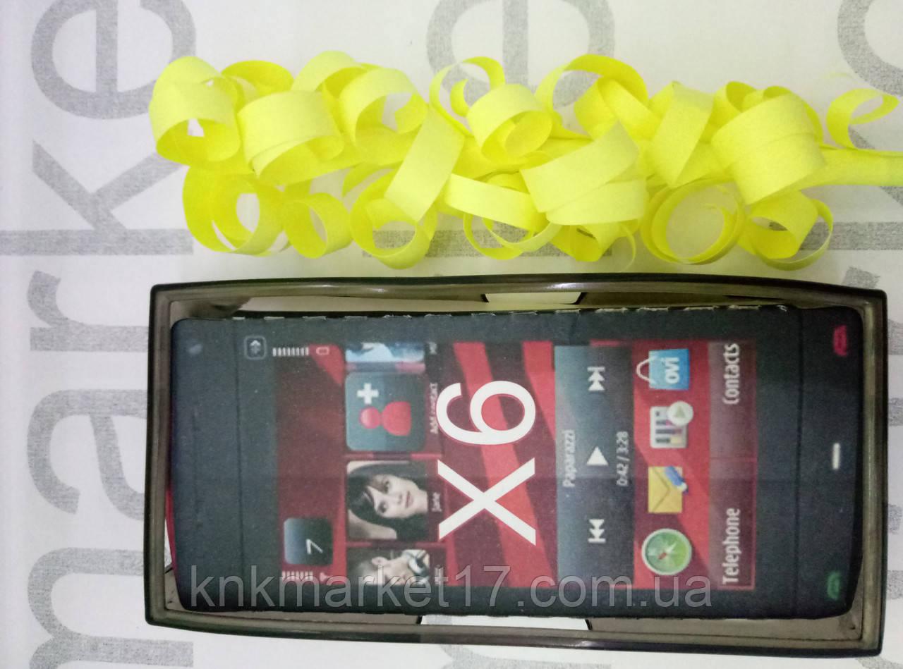 Чохол для Nokia X6 (силікон чорний принт)