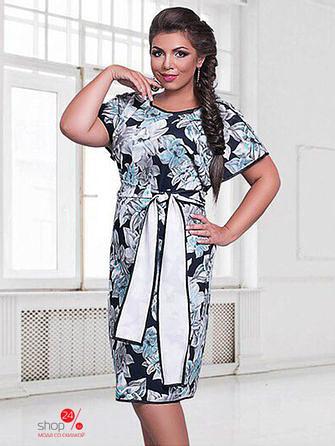 """Шикарное женское платье в цветочек ткань """"Креп-трикотаж"""" 48, 50, 52, 54 размер батал"""