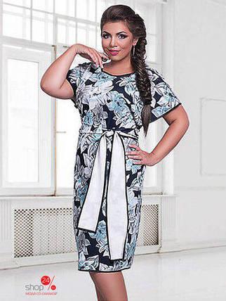 """Шикарное женское платье в цветочек ткань """"Креп-трикотаж"""" 48, 50, 52, 54 размер батал, фото 2"""