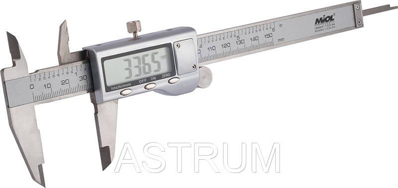 Штангенциркуль электронный Premium 150 мм Miol 15-241, фото 2