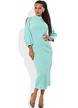 Ментолове плаття футляр міді Д-1273