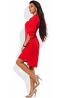 Стильное красное платье поло Д-1240