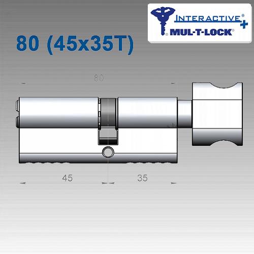 Цилиндр Mul-T-Lock Interactive+ 80 мм (45х35T)