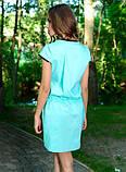 Стильное ментоловое платье с кулиской Д-1231, фото 2