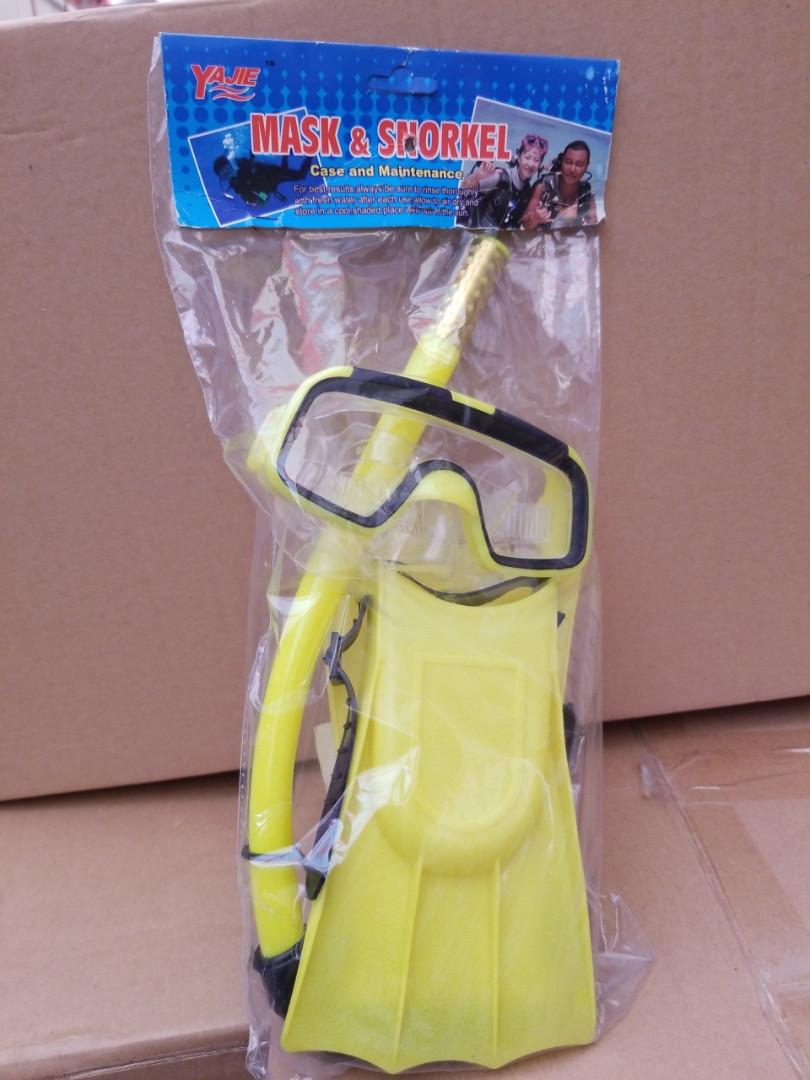 Набір для плавання маска, трубка, ласти Metr 0024