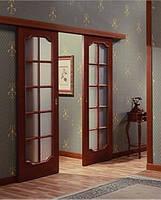 Установка двойной межкомнатной  двери на раздвижной системе.