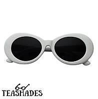 """Солнцезащитные Очки """"Курт Кобейн"""" от Teashades - Zara Nirvana Benetton M&S H&M Ray Ban, Marc Jacobs Ретро Белые с черными стеклами"""