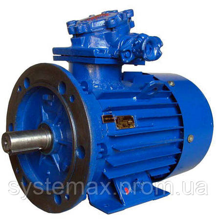 Взрывозащищенный электродвигатель АИУ 112М4 (ВАИУ 112М4) 5,5 кВт 1500 об/мин, фото 2