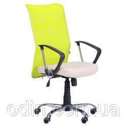 Кресло АЭРО HB сиденье Неаполь N-17/спинка Сетка лайм 356648