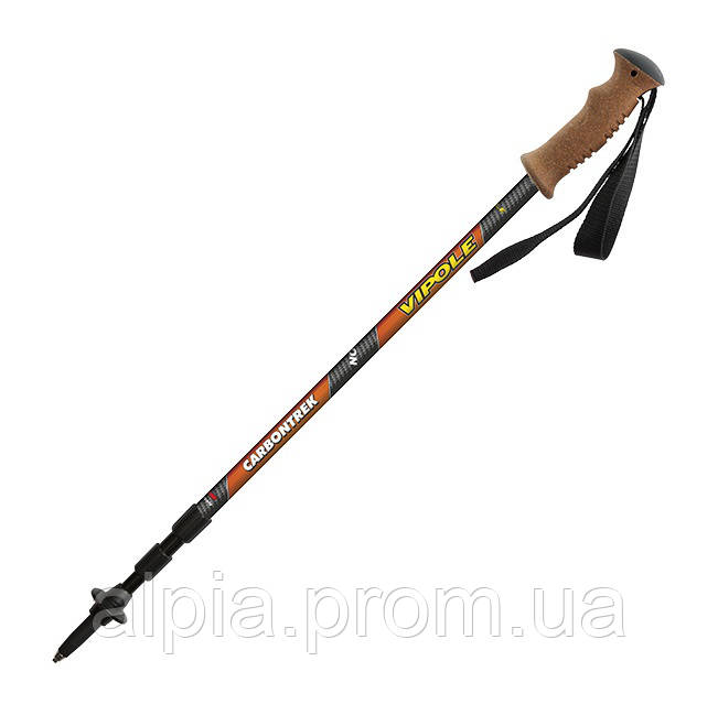 Треккинговые палки Vipole Carbontrek Cork Roundhead (Carbon)