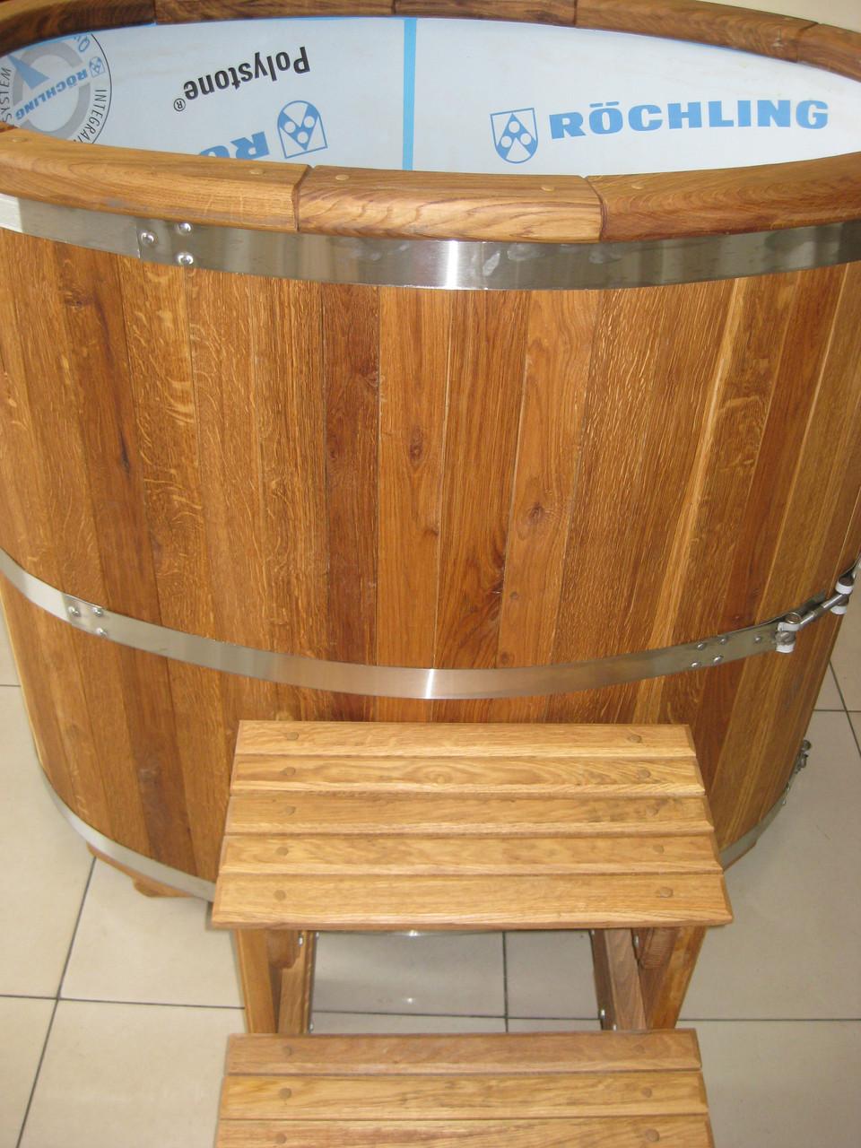 Купель дубовая (вставка полипропилен) 1200*1000*750