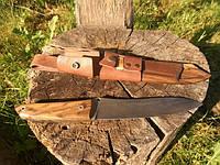 Получение товара нож из дамасской стали ручной работы.