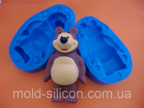"""3Д Силиконовый молд """"Медведь 2"""""""