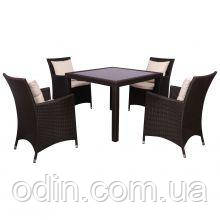 Комплект мебели Samana-4 из ротанга Elit (SC-8849-S2) Brown MB1034 ткань A13815 516816