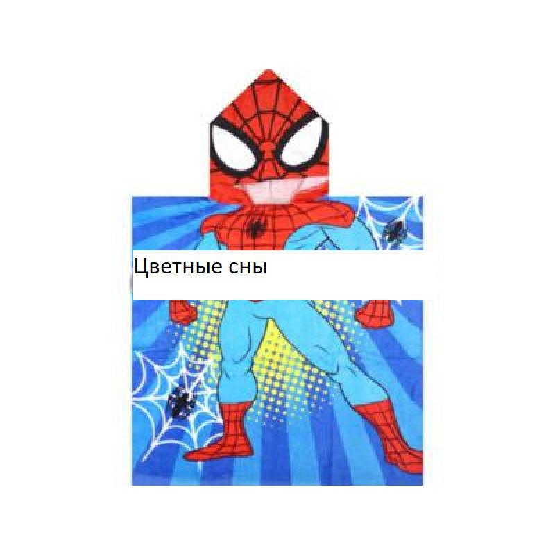 """Детское пончо для девочки""""Человек паук """""""