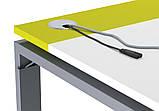 Стол рабочий двухцветный Trio 1200*600*740h, фото 2