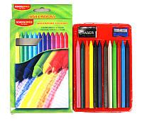 Восковые карандаши 12цв