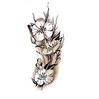 """Татуювання - наклейка """"Квіти-2"""""""