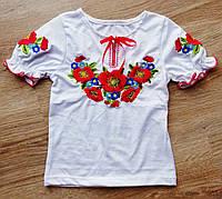 Детская вышиванка с коротким рукавом на девочку 502804fb995a0